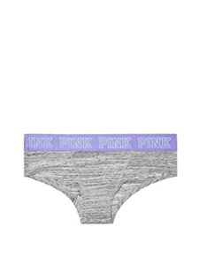 Victoria's Secret PINK Purple Logo Hipster Panty Grey Marl (S)