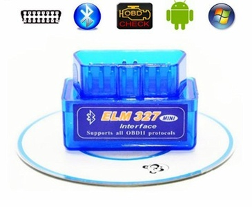 AOAUTO(TM) Latest Version Super Mini ELM327 Bluetooth V2.1 OBD2 Mini Elm 327 Car Diagnostic Scanner Tool For ODB2 OBDII Protocols (1pc)