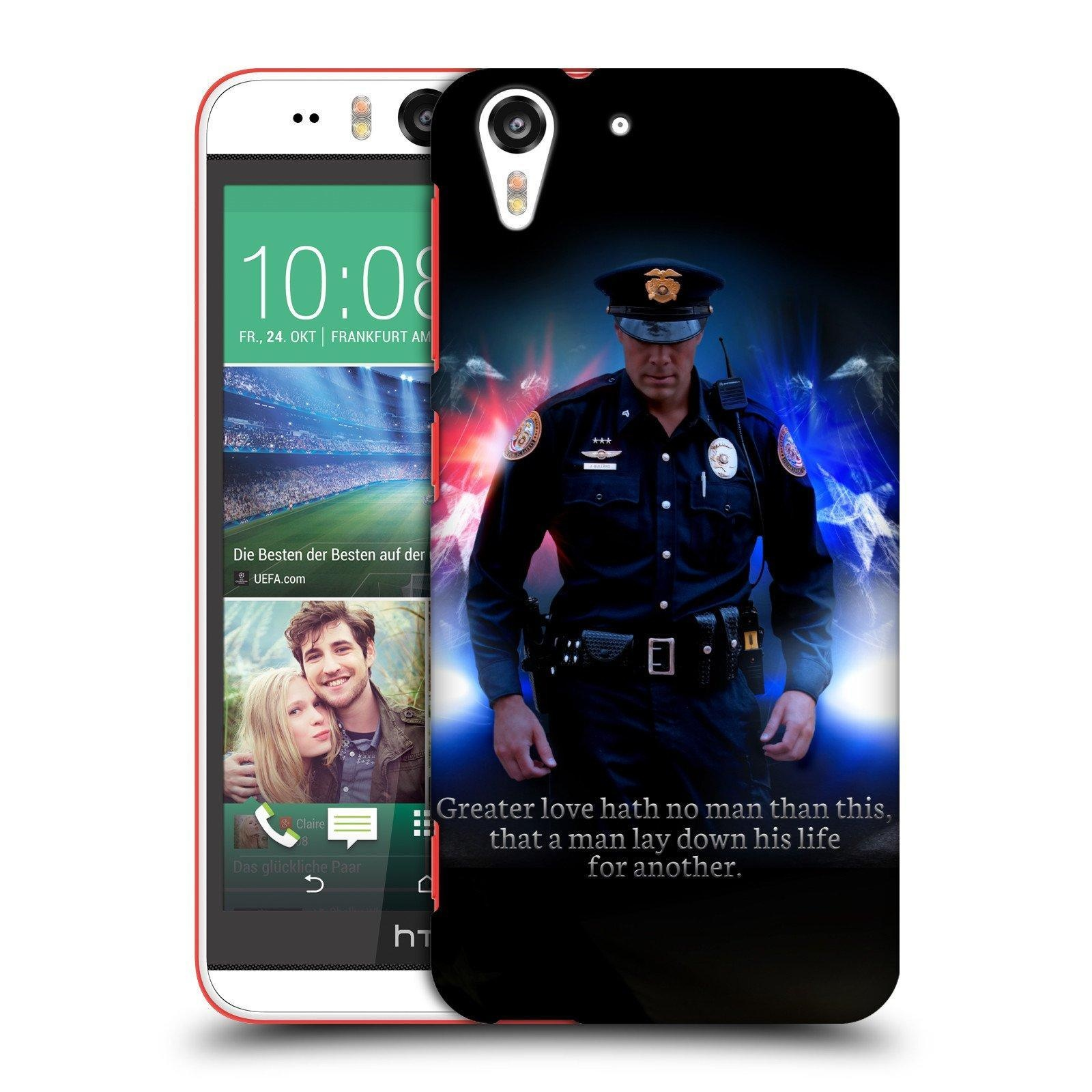 Official Jason Bullard No Greater Love Police Law Enforcement Hard Back Case for HTC Desire Eye