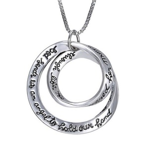 Gudeke Fashion Simple Womens Irregular Round Creative English Letter Necklace Pendants 50cm Chain