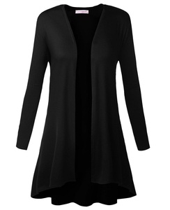 JerrisApparel Women's Long Sleeve Open Front Draped Cardigan