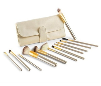 Elephant XuMakeup Brushes 12PCS Professional Cosmetics Makeup Brush Set with Make Up Brush Pouch by Elephant Xu