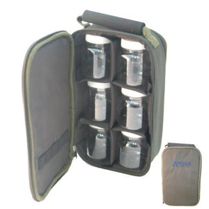carry case with 6 bait glug pots carp coarse fishing tackle by TOUCHSTONE FISHING TACKLE