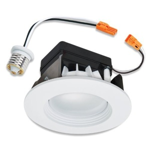 Halo Recessed LED RL460WH830PK 4-Inch Retrofit Module and Trim, White, 80 CRI, 3000K by Halo Recessed