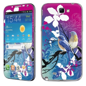 Samsung [Galaxy Note 2] Phone Skin - [SkinGuardz] Full Body Scratch Proof Vinyl Decal Sticker with [WallPaper] - [Birds] for Samsung Galaxy [Note 2]
