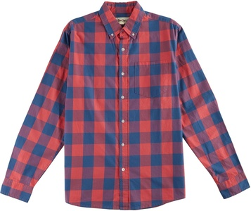 Blue Sol Mens Red & Blue Checkered Shirt Small Red/blue