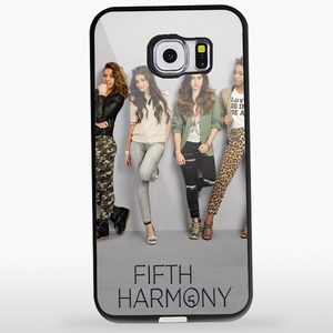 Fifth Harmony iPhone for Samsung Galaxy S6 EDGE Black RUBBER Case Case