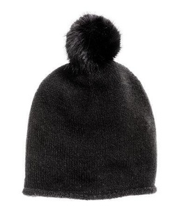 Hm 100% Acrylic Fine-knit Hat with Pompom