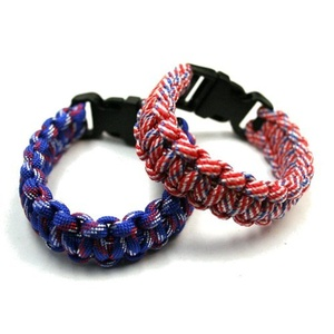 Patriot Pride USA Paracord Wristband Bracelet (Sold Individually) by DM Merchandising