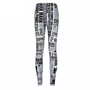 Women Newspaper Printed Leggings (XXXXL Size/ 4XL)