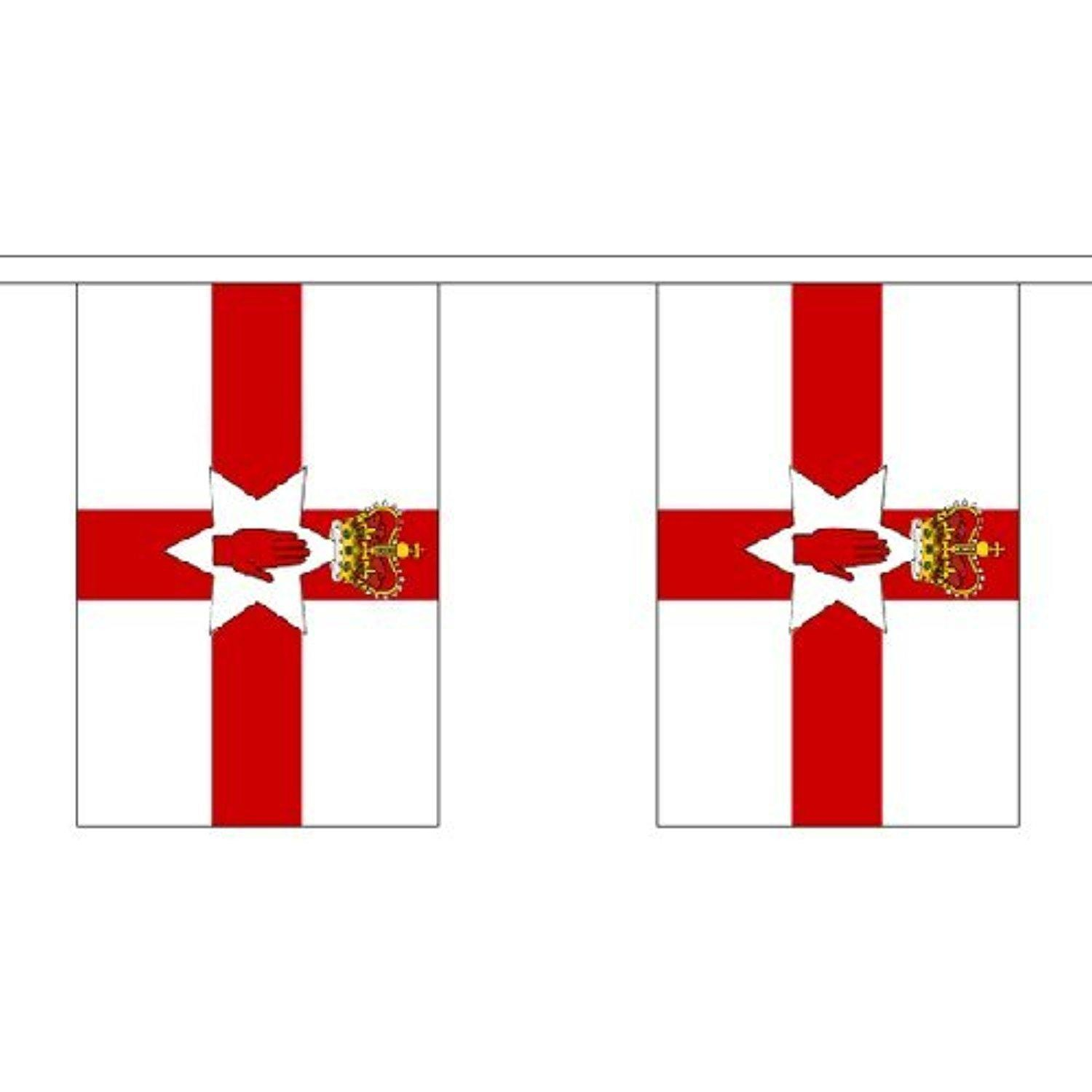 Northern Ireland Giant Bunting (30 Large Flags) 18.25M Or 60Ft by Northern Ireland