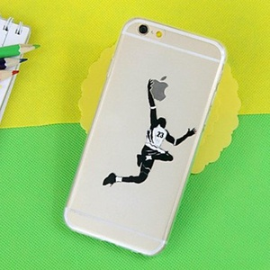 Basketball Pattern TPU Transparent Soft Phone Case for iPhone 5/5S ( Compatible Models : IPhone SE/5s/5 )