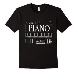 Men's Without The Piano Life Would Bb T-shirt Medium Black