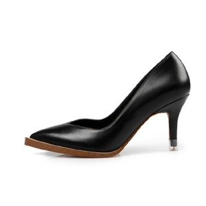 VASHOP Women's High Heel Leather Platform Two Toned Pointed Toe Dress Pumps Shoes,Black/7.5