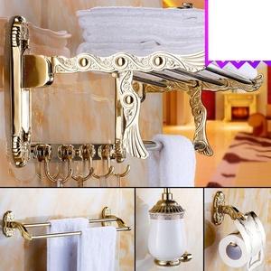Bathroom accessories/Stainless steel racks/[Towel rack]/ Golden Towel rack/European-style bathroom accessories set-S