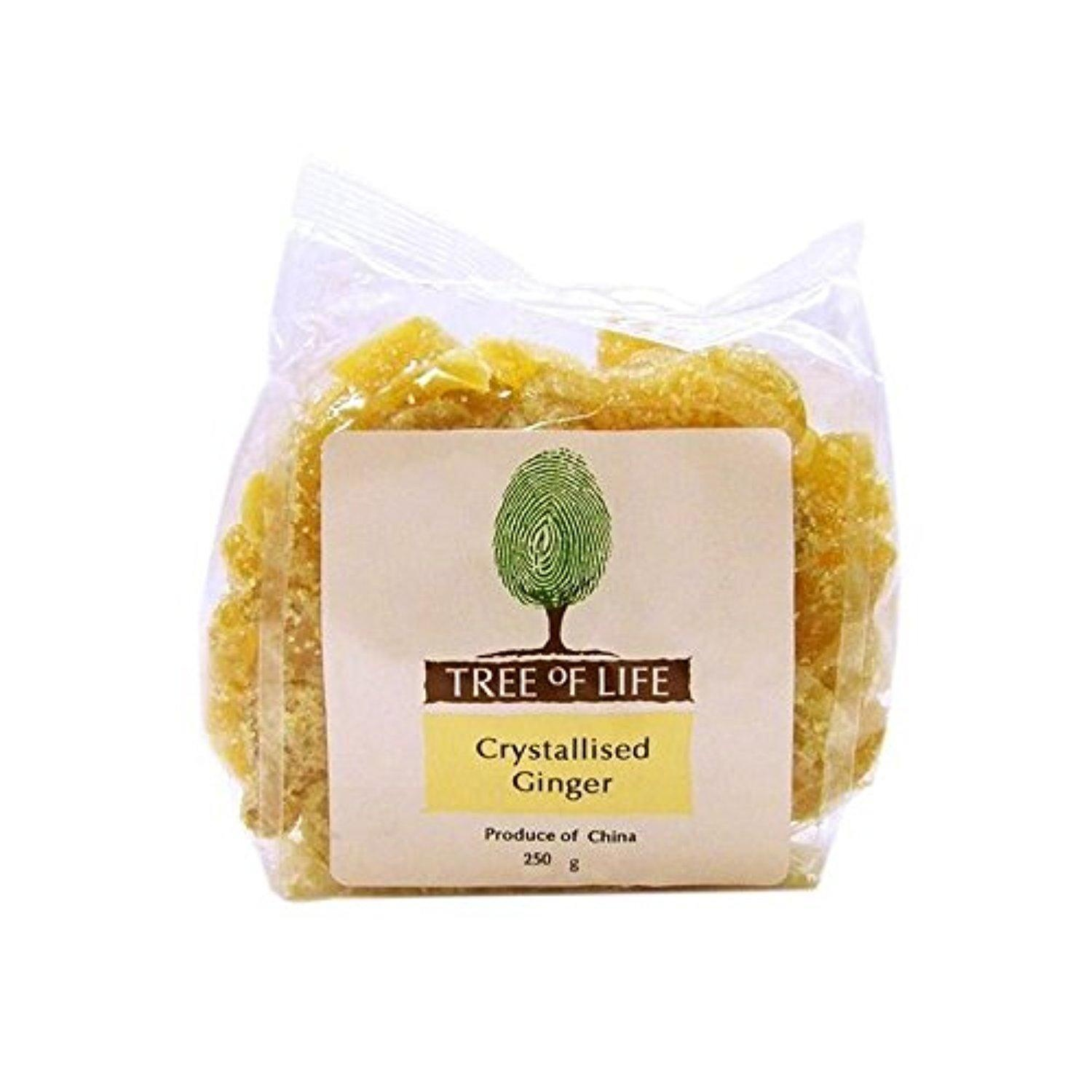 Tree of Life Crystallised Ginger 250g - Pack of 2