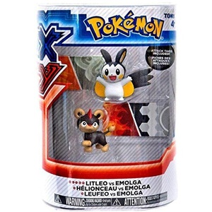 Pokemon X & Y Litleo vs. Emolga Action Figure 2-Pack by Pokemon Black & White Toys & Action Figures