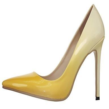 Women's Spring Summer Fall PU Office & Career Dress Party & Evening Stiletto Heel Red Beige