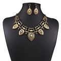 ARICO Choker Crystal Jewelry Set Luxury Maxi Statement Necklace and Earring Set Vintage Jewelry Sets Multi Layer NE876
