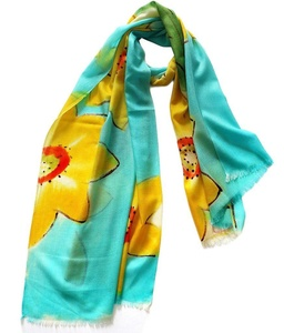 J-SUN-7 Womens Floral Wool Ultralight Scarf(Color3, 2772(inch))