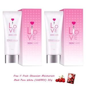 2 Units of Somju Whitening Body Serum SPF 60 pa ++ 3 Complexes Sunscreen Bleaching Glowing Brightening Skin Clear Dark Spot.[Get Free Tomato Facial Mask & Ceramine UV Line Ginkgo Plus Whitening Cream 8.50ml.]