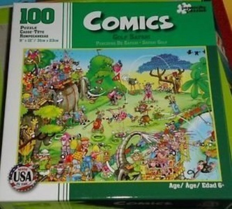 Comics 100 Puzzle Parcours: Golf Safari by Comics