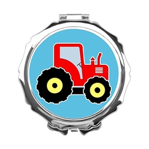 GoingOn Heavy Machinery Personalised Mirrors Farm Machinery Makeup Compact
