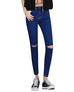 TAKIYA Women's Prfect-Waist Stretch Denim Skinny Jeans (29, Blue)