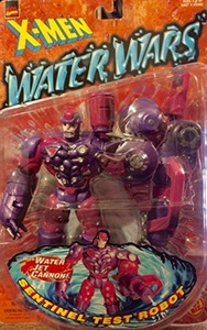 SENTINEL TEST ROBOT with Wet Jet Cannon Water Wars Series 1997 Marvel Comics X-Men Action Figure & Accessories by X Men