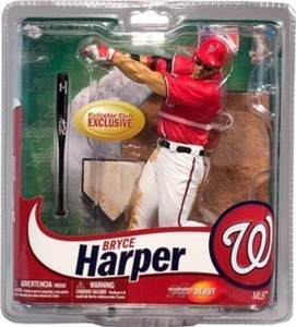 McFarlane Toys MLB Sports Picks Collectors Club Exclusive Action Figure Bryce Harper (Washington Nationals) Red Jersey & Eye Black by MLB Sportspicks Collectors Club