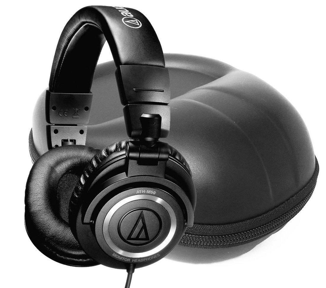 FitSand (TM) Travel Carry Zipper Storage EVA Hard Case Bag Pouch Box Cover for Audio-Technica ATH-M50 Professional Studio Monitor Headphones