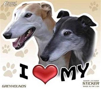 AGI I Love My Greyhound Dog 4