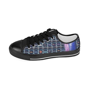 Aneozap Custom Doctor Who Men's Low-top Lace-Up Canvas Shoes Sneakers Casual Flats,Black