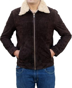 The Walking Dead Rick Grimes Suede Leather Jacket (XX-large)