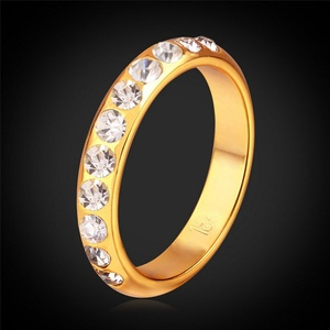 Slyq Jewelry Gold Ring / Men Jewelry With Box Vintage Gold Plated Fashion Jewelry Austrian Crystal Ring R926