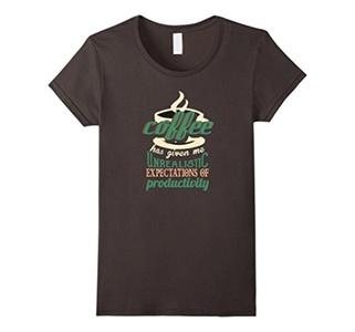 Women's Coffee T-Shirt XL Asphalt