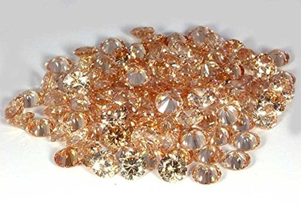 AA++ AMAZING 6.00MM QUALITY CHAMPAGNE LIGHT BROWN COLOUR CUBIC ZIRCONIA ROUND CUT CZ STONE LOT 50 PCE