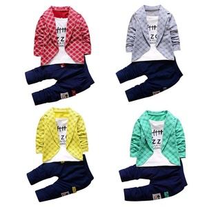 Ec Toddler Baby Boy Kid Lattice Shirt Tops+ Long Pants Clothes Outfits Gentleman Set (2Years, Green)