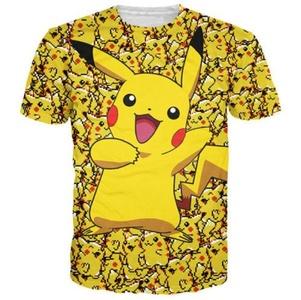 New Fashion Womens/Mens Cartoon Pokemon Pikachu funny 3D Print T-Shirt