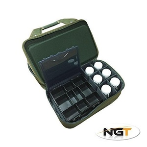 Folding Carp Fishing Tackle System and Storage Case + 6 Glug Pots + Bivvy Table As Seen In Anglers Mail Magazine by Carp-Corner