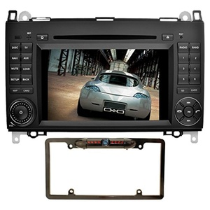 YINUO 7 inch 2 Din Android 5.1.1 Lollipop Quad Core HD Car Stereo 1024600 Capacitive Touch Screen Car Radio Receiver DVD GPS Navigation for Mercedes-Benz, Mic+8GB Map Card+Night Vision Backup Camera