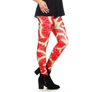 Women Watermelon Printed Leggings