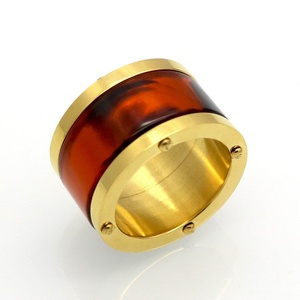 Dudee Jewelry 4 Color Resin Ceramic Couple Ring Wedding Ring For Man Woman Titanium Steel Gold Plated Love Ring Fashion Brand jewelry