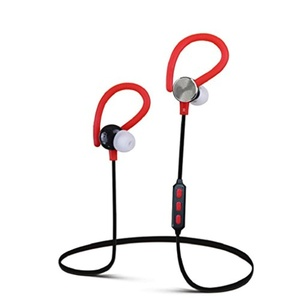 Tiean Bluetooth Headphones, In-Ear Earbuds Wireless Stereo Waterproof Sports Headsets with Super Bass (Built-in Microphone, Bluetooth 4.1 with aptX) [Upgraded Version] (Red)