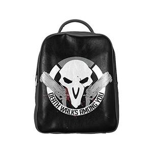 Death Walks Among You Unisex PU Leather Computer Laptop Backpack, Travel Bag Hiking Knapsack,School College Student Backpacks Shoulder Bags for Women/Girls,Men/Boys