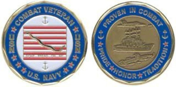 U.S. Navy 'Proven in Combat' Combat Veteran Challenge Coin by Navy Challenge Coins