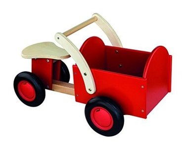 New Classic Toys Carrier Bike (Red) by New Classic Toys