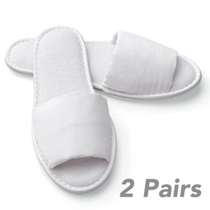 Women's Foldable Custom Sized Hotel Slippers With Travel Bag Open Toe