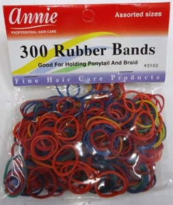 300 RUBBER BAND FOR HAIR COLOURED by Annie