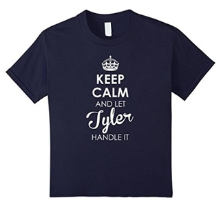 Kids Keep Calm And Let Tyler Handle It - Keep Calm Tee Shirts 8 Navy